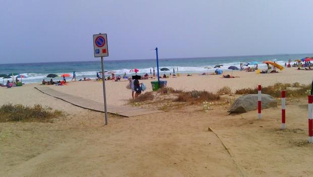 rifiuti da villa a spiaggia